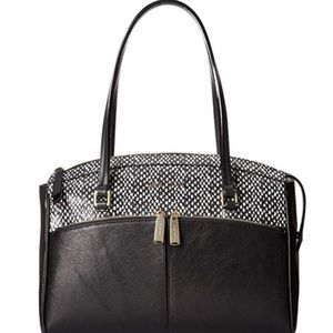 EUC Cole Haan Black/Snake Reddington Med. Satchel